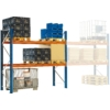 Kép 1/2 - Raklaptároló polcrendszer, Bővítő egység, 2 szint, Teherbírás 2120 kg