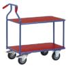 Kép 1/2 - Optiliner asztal-kocsi, terhelhetőség: 400 kg, rakodó-felület: 900x600 mm, színe: kék/piros, HxSzxM: 1050x600x975 mm