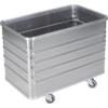 Kép 1/2 - Alumínium doboz-kocsi, sima falak, SzxMéxM: 580x990x772 mm, kocsi tetővel és zárral