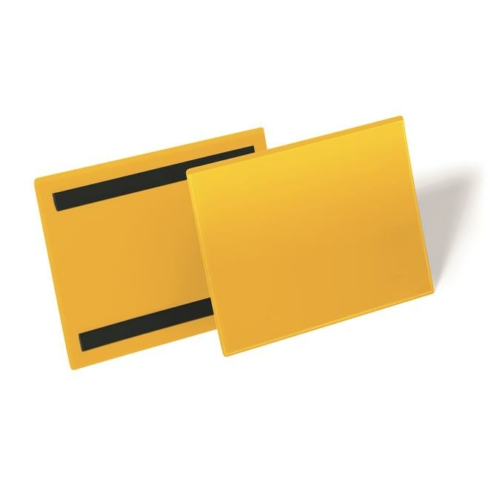 Logisztikai zseb, A5, fekvő, DURABLE, mágnessel, sárga