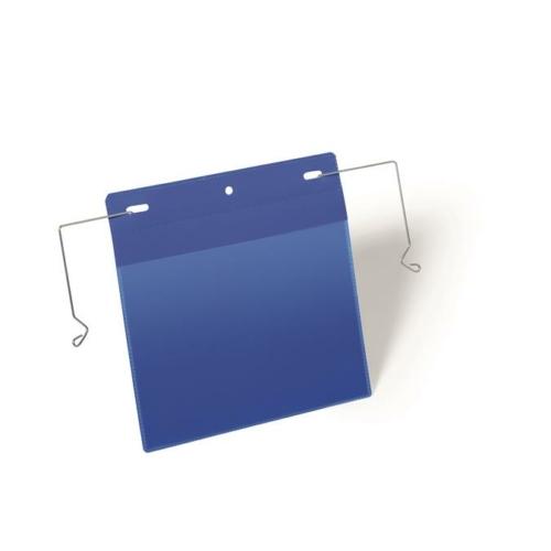 Logisztikai zseb, A5, fekvő, DURABLE, dróttal, kék