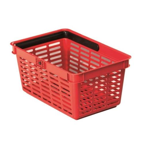 Bevásárlókosár, műanyag, 19 l, DURABLE, piros