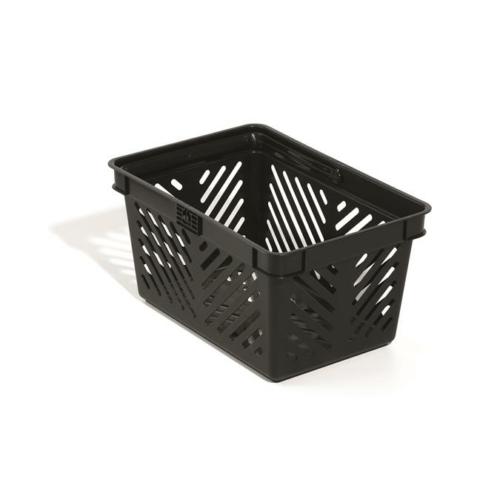 Bevásárlókosár, műanyag, 27 l, DURABLE, fekete