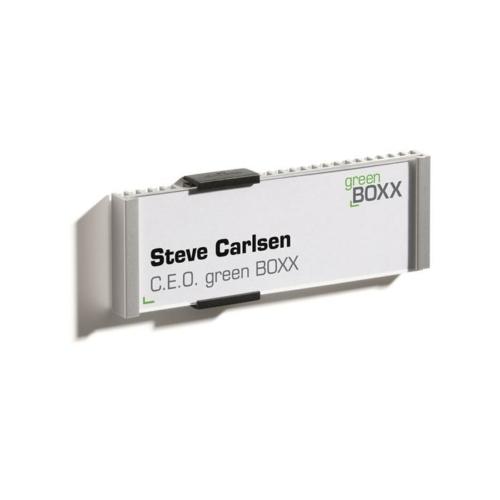 """Információs tábla, 149x52,5 mm, DURABLE """"INFO SIGN"""", ezüst"""