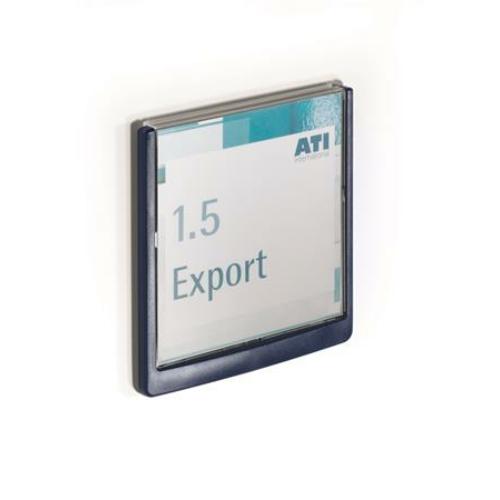 """Információs tábla, 149x148,5 mm, DURABLE """"CLICK SIGN"""", kék"""