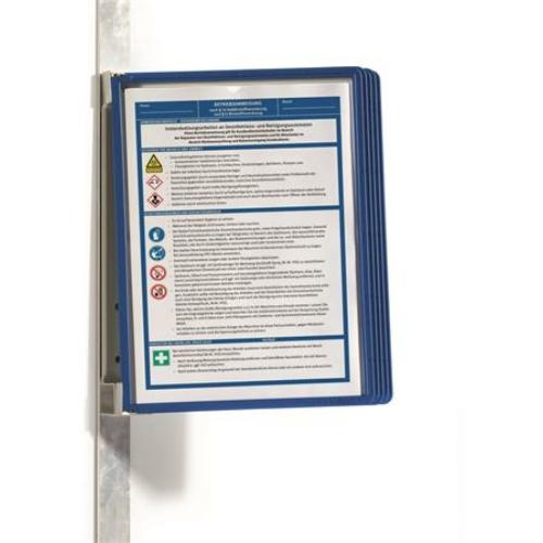 """Bemutatótábla tartó, fali, mágneses, 5 db bemutatótáblával, DURABLE """"VARIO® 5 MAGNET"""", kék"""