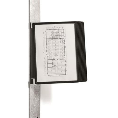 """Bemutatótábla tartó, fali, mágneses, 10 db bemutatótáblával, DURABLE """"VARIO® 10 MAGNET"""", fekete"""