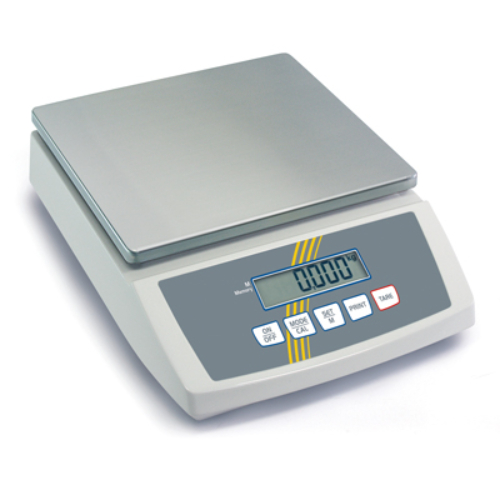 Kompakt mérleg, nemesacél lap, SzxMé: 252x228mm, mérési tartomány: max.3 kg, pontosság: 0,1 g