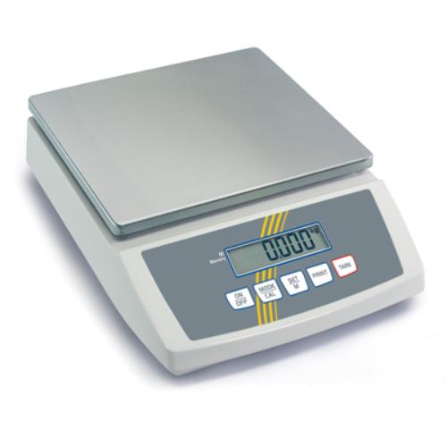 Kompakt mérleg, nemesacél lap, SzxMé: 252x228mm, mérési tartomány: max.12 kg, pontosság: 1,0 g