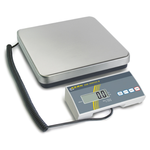 Lapos formátumú mérleg EOB, mérési tartomány: 60 kg, leolvashatóság: 50 g, LCD-kijelző 25 mm-es számokkal