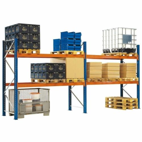 Raklaptároló polcrendszer, Alapegység, 2 szint, Teherbírás 3000 kg