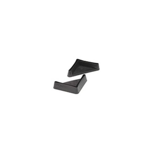 Műanyag talp-lemez, fekete, 35x35 mm-es derékszögprofilhoz