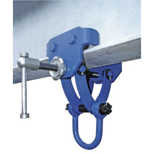 Tartozék elektromos láncos csörlőhöz: tartó-sínhez görős-csíptető felfüggesztéshez, orsós szorító rögzítővel