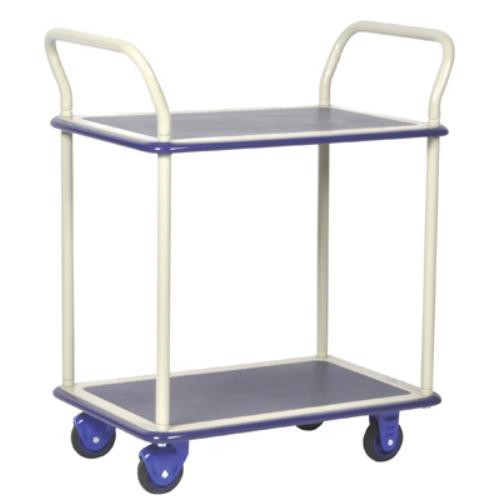 Platós-kocsi, gumi-abroncsozás, Terhelhetőség: 150 kg, Össz.magasság: 1060 mm, Plató méret: 740x480 mm