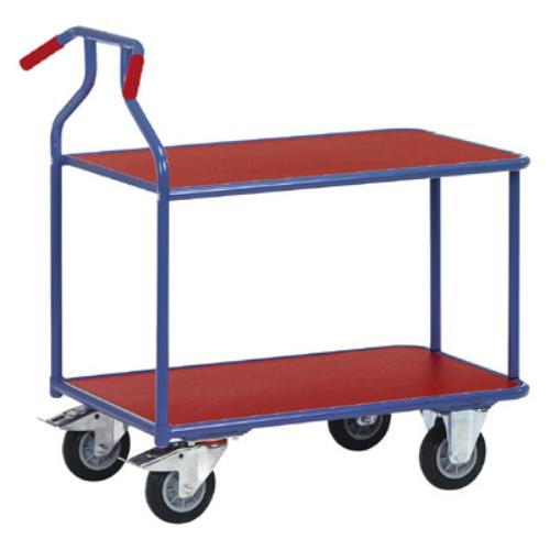 Optiliner asztal-kocsi, terhelhetőség: 400 kg, rakodó-felület: 900x600 mm, színe: kék/piros, HxSzxM: 1050x600x975 mm