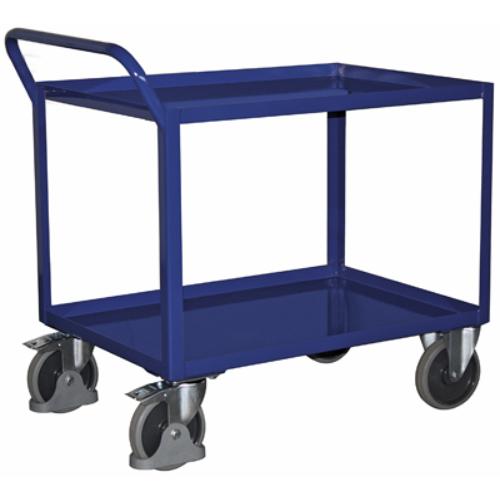 Asztal-kocsi, 2 db szilárdan hegesztett rakodószinttel, SzxMéxM: 1143x708x995 mm, rakodó felület: 996x696 mm