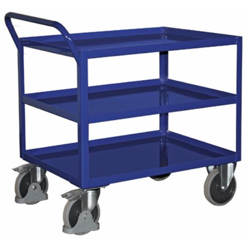 Asztal-kocsi, 3 db szilárdan hegesztett rakodószinttel, SzxMéxM: 1143x708x950 mm, rakodó felület: 996x696 mm