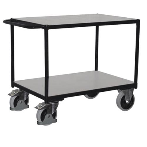 Asztal-kocsi nagy terheléshez, 2 db rakodószinttel, ESD, SzxMéxM: 1190x700x915 mm, rakodó felület: 1000x700 mm